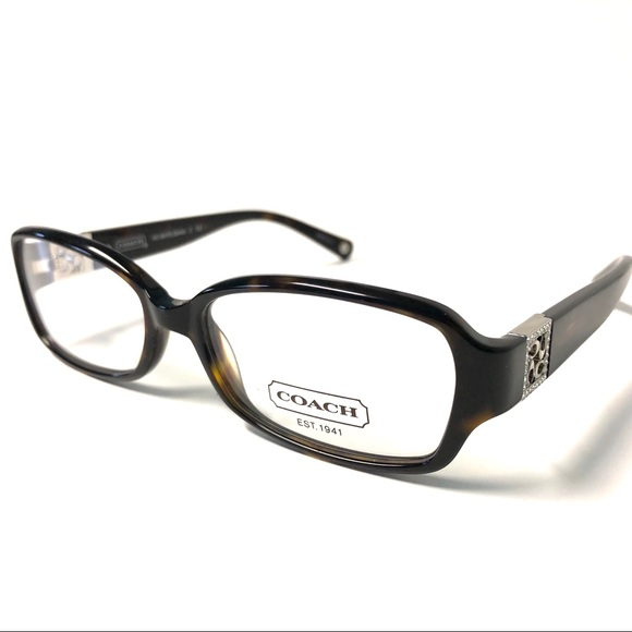 aac8603d605f Coach Accessories | Dark Tortoise With Silver Accents Eyeglasses ...